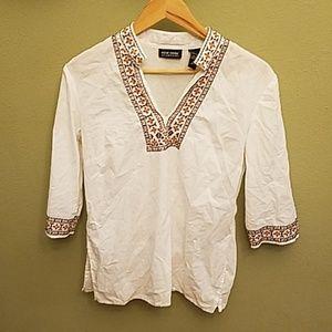 New York & Co Women's V Neck dress shirt